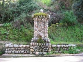 Fontaine de galets à PORTO